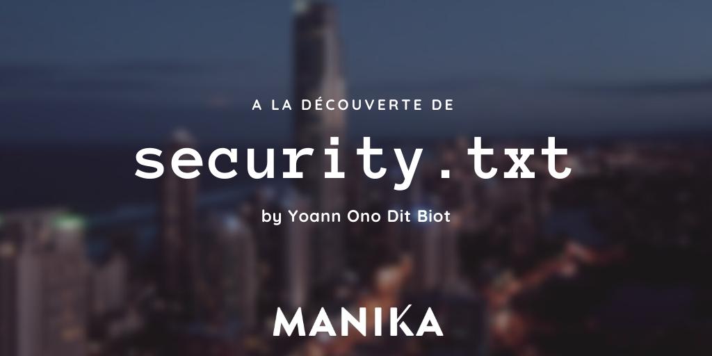 Découverte du security.txt