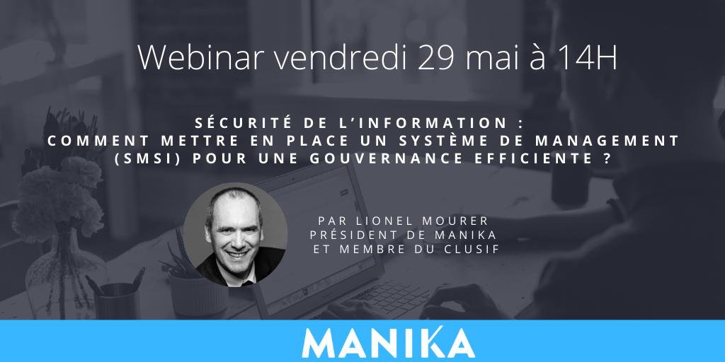 [Webinar] Sécurité de l'Information : comment mettre en place un Système de Management (SMSI) pour une gouvernance efficiente