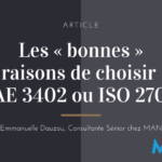 article emmanuelle dauzou choisir ISAE 3402 ou IS0 27001
