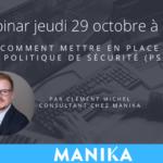 webinar comment mettre en place une politique de sécurité PSSI