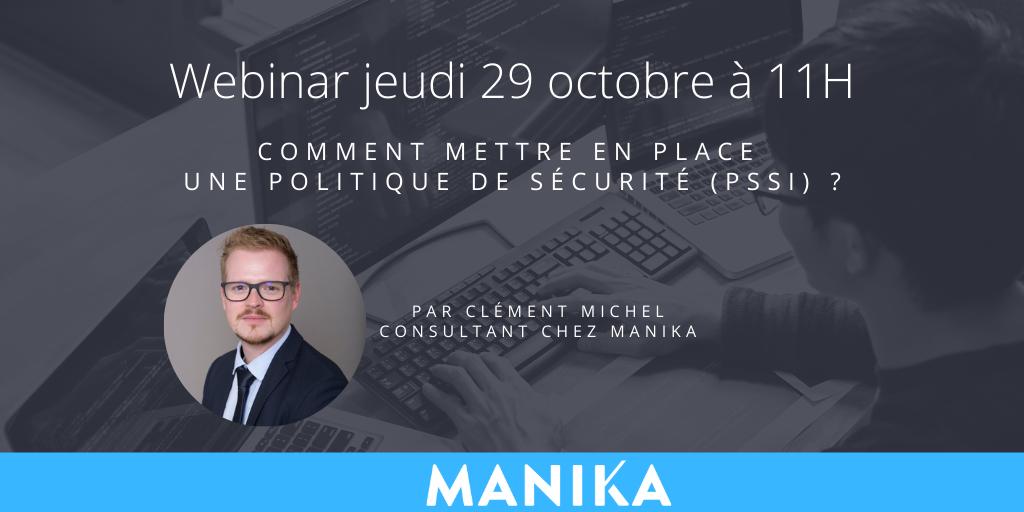 Webinar : Comment mettre en place une politique de sécurité (PSSI) ?