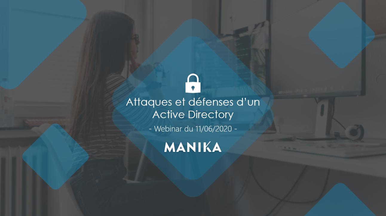 Webinar «Attaques et Défenses» d'un Active Directory» : la vidéo