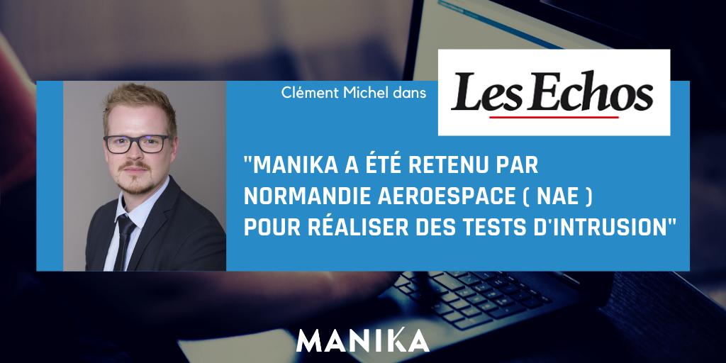 [Presse] Les Echos – Des hackers vont tester la cyberrésistance des PME aéronautiques normandes