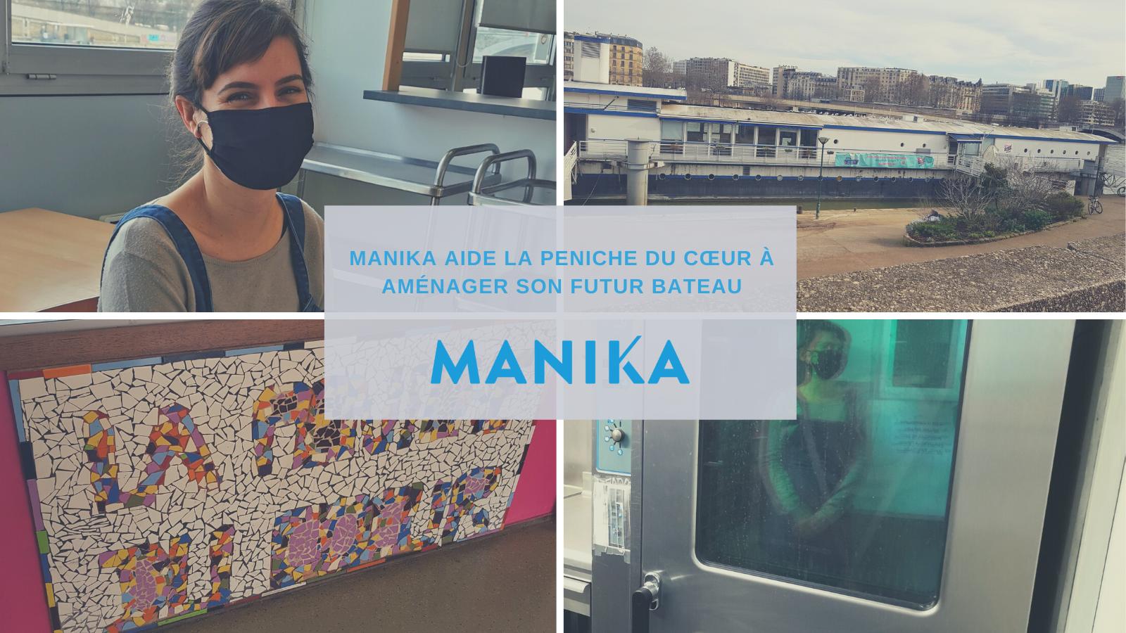 MANIKA soutient la péniche du coeur pour l'aménagement de son futur bateau